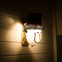 Snowman Porch Light Cover  Light up Your Night | eBay