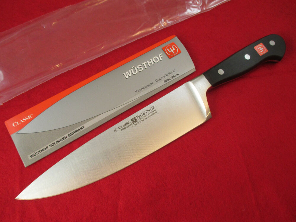 wusthof kitchen knives island plans classic 8 inch chef knife - 4582/20 *new quick ...