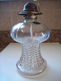 VINTAGE GLASS OIL LAMP MADE IN AUSTRIA LAMPLIGHT FARMS