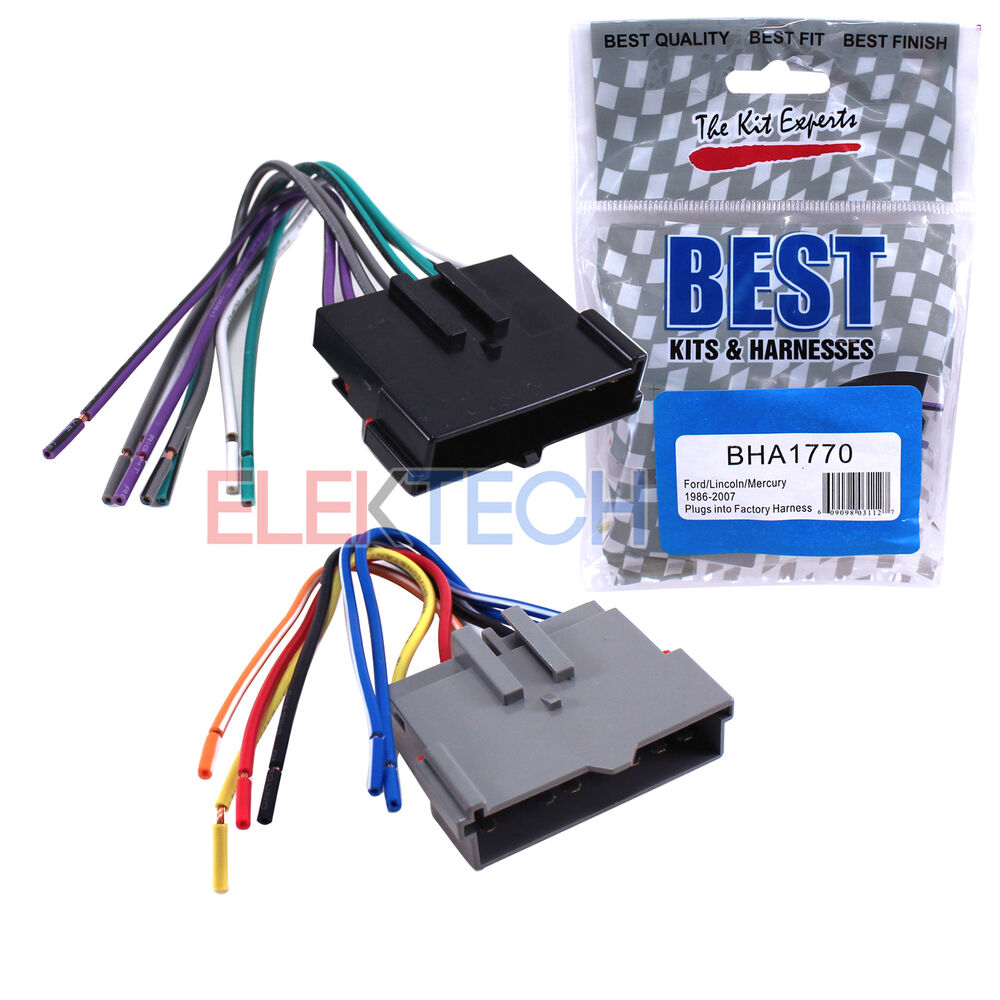 hight resolution of details about best kits bha1770 aftermarket radio wire harness 8 pin for ford lincoln mercury