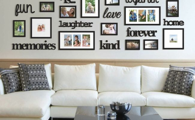 22 Pcs Word Family Is Photo Picture Frame Collage Set