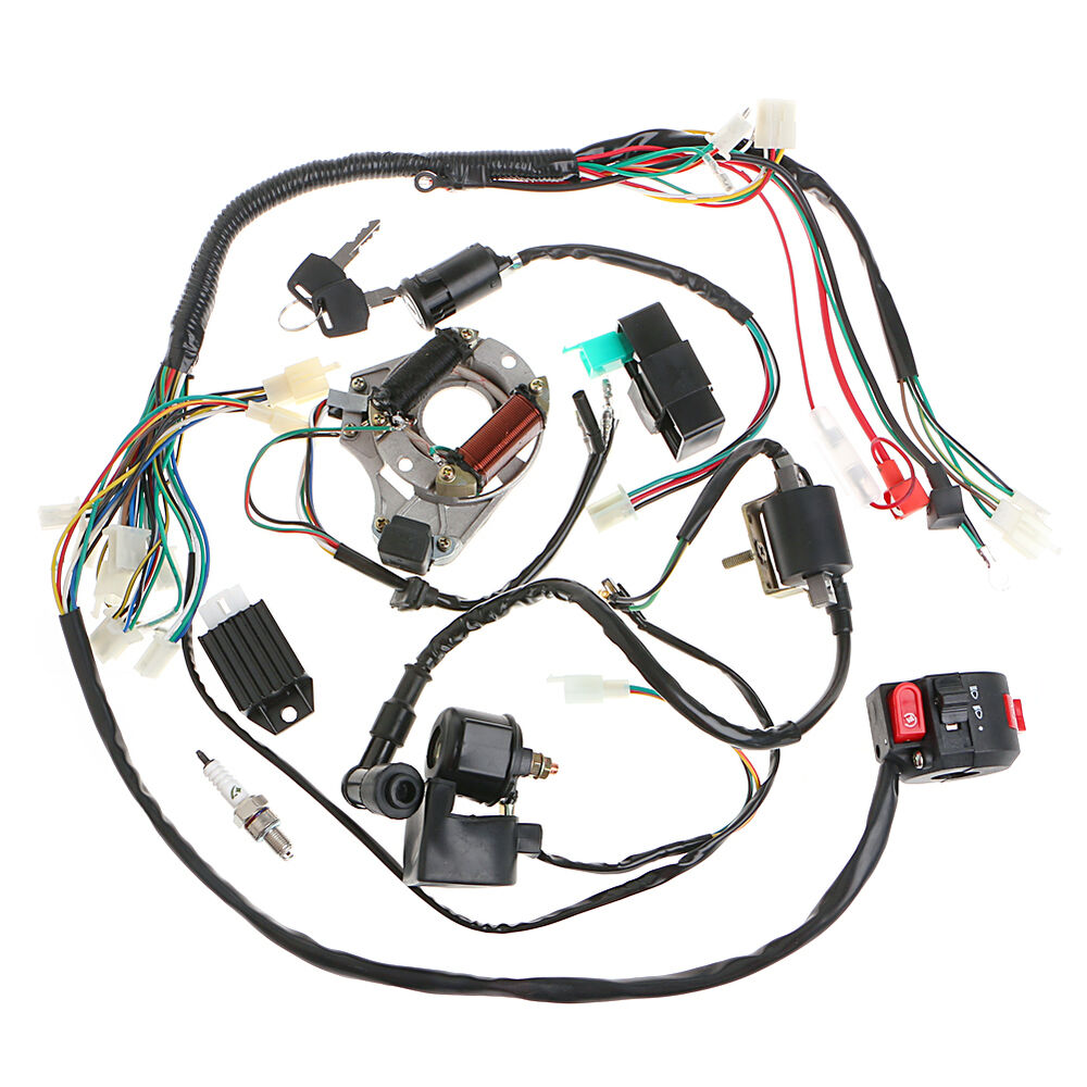 110cc Engine Wiring Diagram Electric Motorcycle 50 70 90 110cc Cdi Wire Harness Assembly Wiring Set Atv