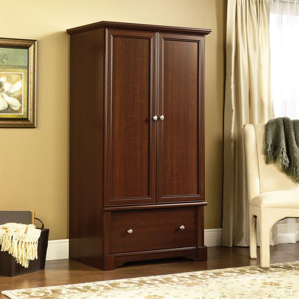 Elegant Wardrobe Armoire With Drawer Clothes Shelves Wood Closet Storage Cabinet