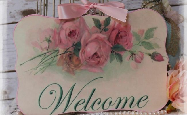 Welcome Vintage Shabby Chic Country Cottage Style