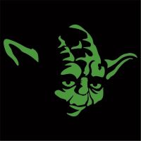 Star Wars - Yoda Sticker / Decal - Choose Size & Color ...
