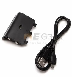 xbox one controller usb rechargeable battery pack 1200mah usb charger cable for [ 1000 x 1000 Pixel ]