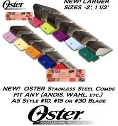 oster a5 stainless steel universal guard comb fit most andis laube clipper blade ebay [ 914 x 1000 Pixel ]