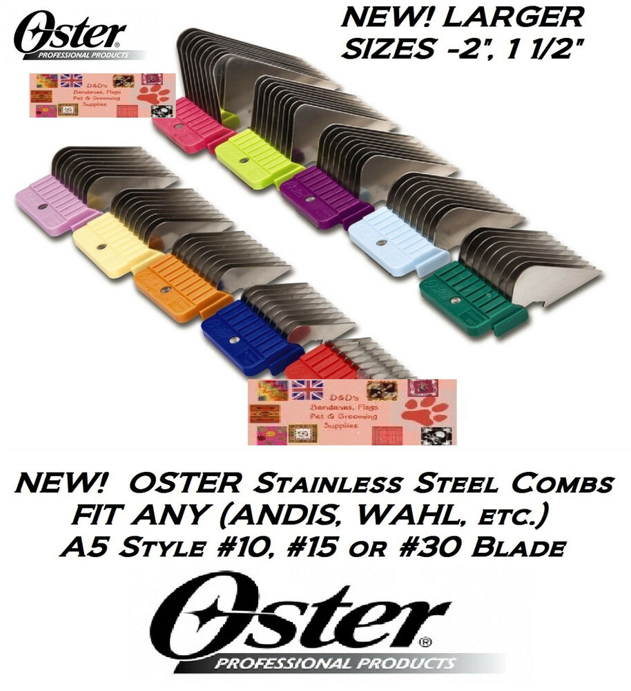 hight resolution of oster a5 stainless steel universal guard comb fit most andis laube clipper blade ebay