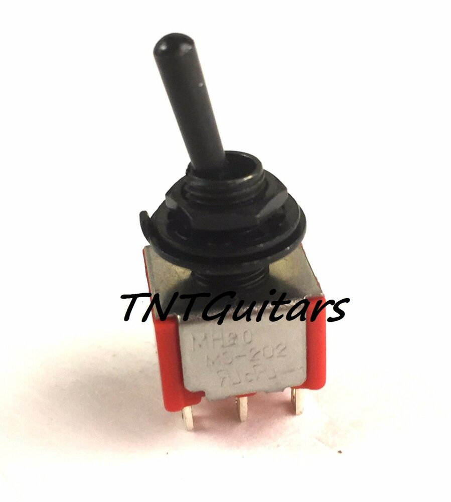 hight resolution of details about mini switch 3 way toggle style guitar pickup selector dpdt on off on black