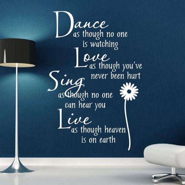 Wall Stickers Quotes Art Dance Love Sing Live
