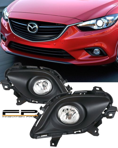 small resolution of details about 2014 2015 mazda 6 sport sedan 4 door clear bumper driving fog light complete kit