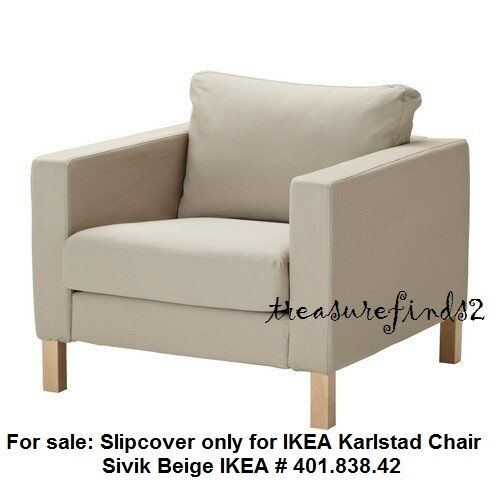 ikea karlstad chair cover hire in leeds for armchair slipcover sivik beige 401 838 42 ebay