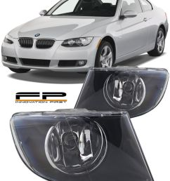 details about 2007 2011 bmw 3 series e92 e93 328i 335i coupe convertible fog lights clear pair [ 800 x 1000 Pixel ]