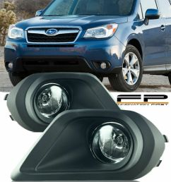 details about for 2014 2015 subaru forester fog lights clear lens wiring switch complete kit [ 800 x 1000 Pixel ]