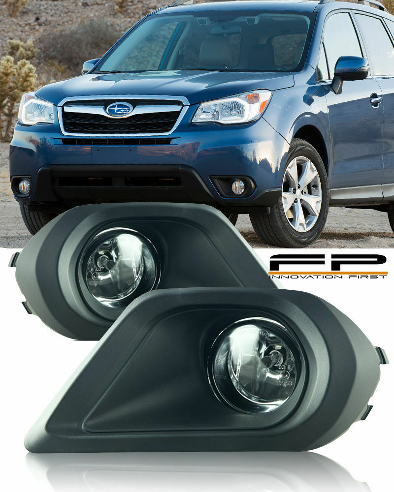 hight resolution of details about for 2014 2015 subaru forester fog lights clear lens wiring switch complete kit