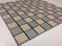 Beige And Grey Mix Non-Slip Structured Porcelain Mosaic ...