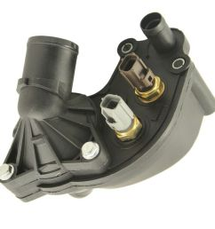 new thermostat housing with sensors for 97 01 ford explorer mountaineer 4 0l v6 [ 1000 x 1000 Pixel ]