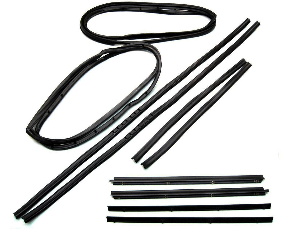 New Set of 10 Window Channel Belt Weatherstrip & Door Seal