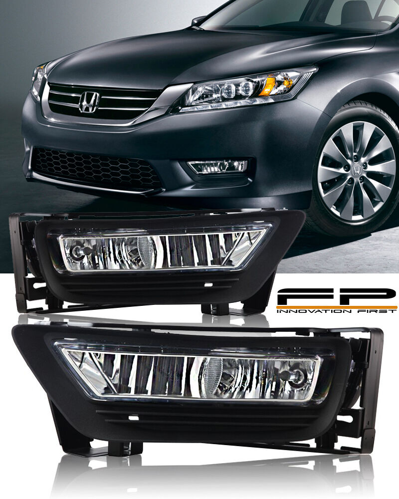 hight resolution of details about 2013 2014 2015 honda accord sedan 4dr clear fog light driving lamp complete kit