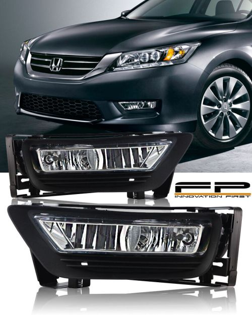 small resolution of details about 2013 2014 2015 honda accord sedan 4dr clear fog light driving lamp complete kit