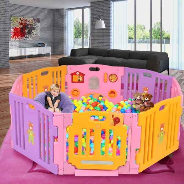 Baby Playpen With Activity Panel 8 Panels Toddler Kids