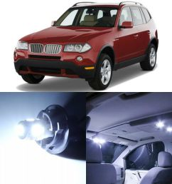 details about 17 x canbus xenon white interior led lights package for 2004 2010 bmw x3 tool [ 1000 x 1000 Pixel ]
