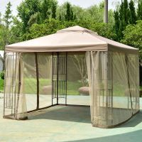 Outdoor 10x10 Gazebo Canopy Shelter Awning Tent Patio