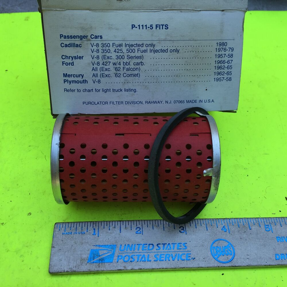 hight resolution of details about chrysler gm ford chevrolet purolator fuel filter p 111 5 item 7757