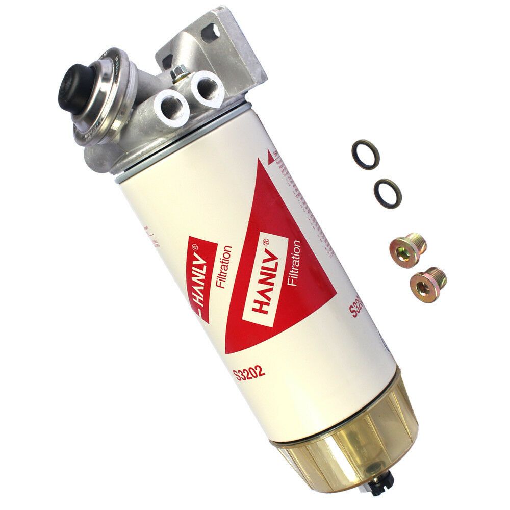 hight resolution of hanlv 30 micron diesel fuel filter water seperator hand primer pump 3 8