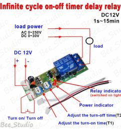 12v time delay relay circuit diagram dc 12v trigger infinite cycle delay timer relay switch [ 900 x 900 Pixel ]