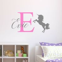 Personalised Unicorn Wall Sticker Wall Decal Childrens ...