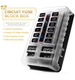 details about blade fuse box holder block led indicator ip56 atc ato 12 way 250amp waterproof [ 1000 x 1000 Pixel ]