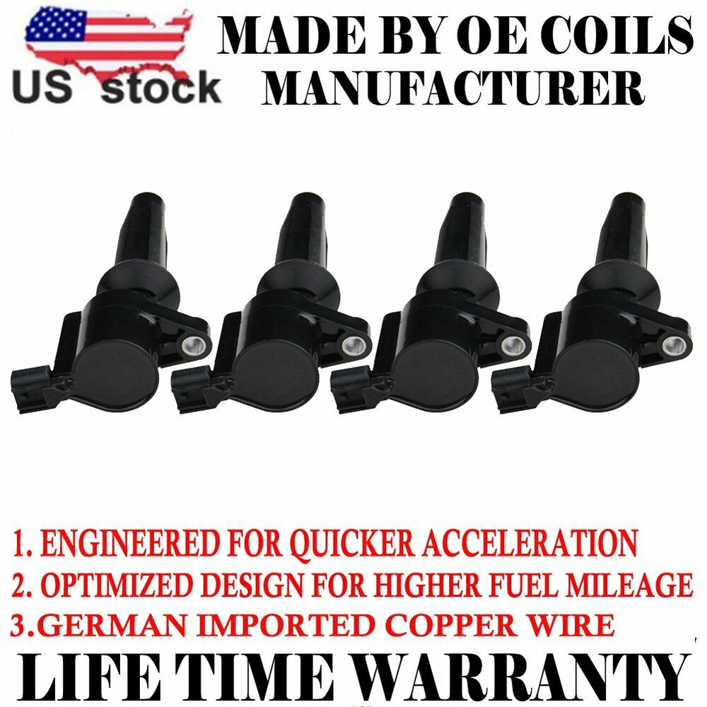 medium resolution of details about 4 pack new premium high performance ignition coil for ford mazda mercury dg507