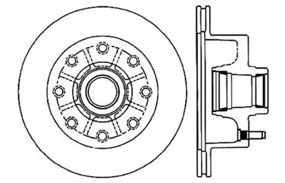 C-TEK Standard Disc Brake Rotor-Preferred fits 1975-1975