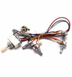 details about 1set wiring harness 3 way toggle switch 2v2t pots jack for les paul lp guitar [ 1000 x 1000 Pixel ]