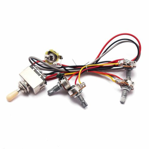 small resolution of details about 1set wiring harness 3 way toggle switch 2v2t pots jack for les paul lp guitar