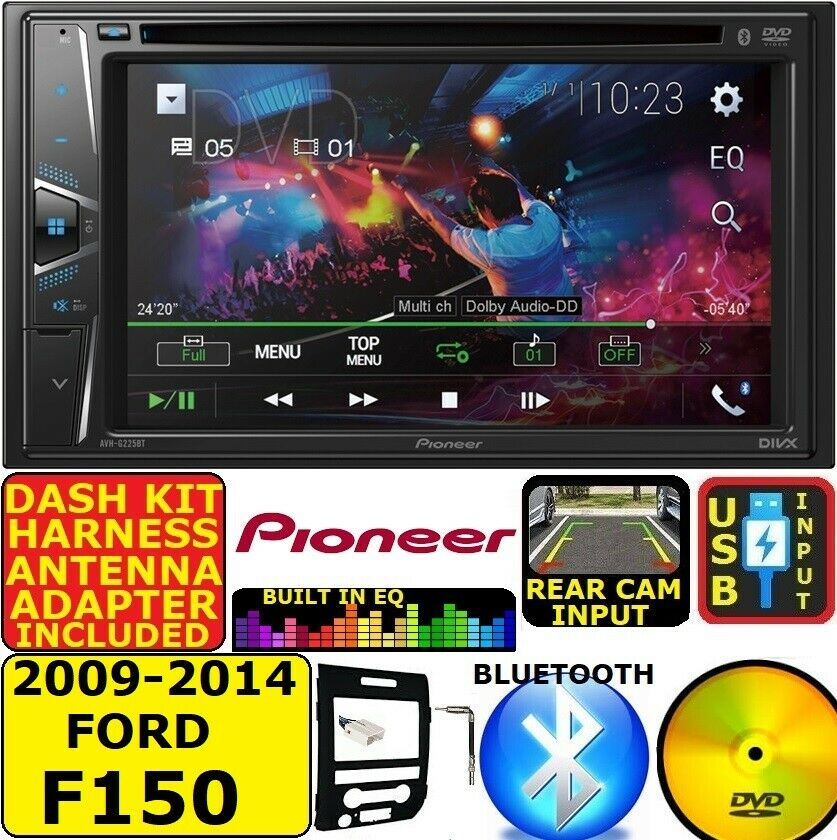 medium resolution of 2009 14 ford f150 pioneer touchscreen cd dvd bluetooth usb car radio stereo pkg