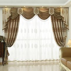 Curtains With Valance For Living Room Small Traditional Interior Design European Luxury Red Velvet Thick Blackout Curtain Details About Tulle N013