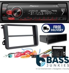 details about vw passat b6 pioneer mechless usb aux bluetooth car stereo player upgrade kit [ 1000 x 1000 Pixel ]