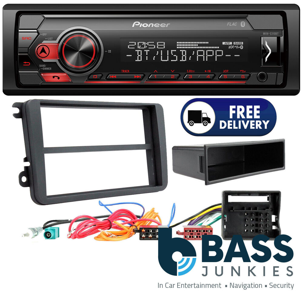 medium resolution of details about vw passat b6 pioneer mechless usb aux bluetooth car stereo player upgrade kit