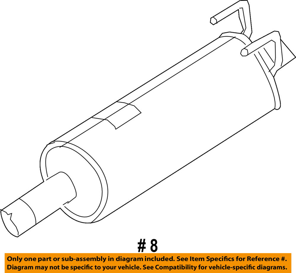 hight resolution of details about ram chrysler oem 13 14 2500 5 7l v8 exhaust system muffler 68172253aa