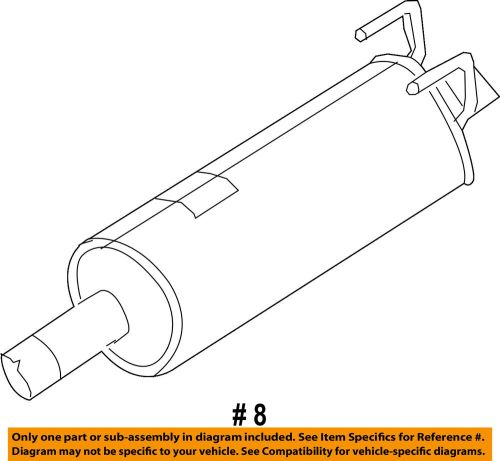 small resolution of details about ram chrysler oem 13 14 2500 5 7l v8 exhaust system muffler 68172253aa