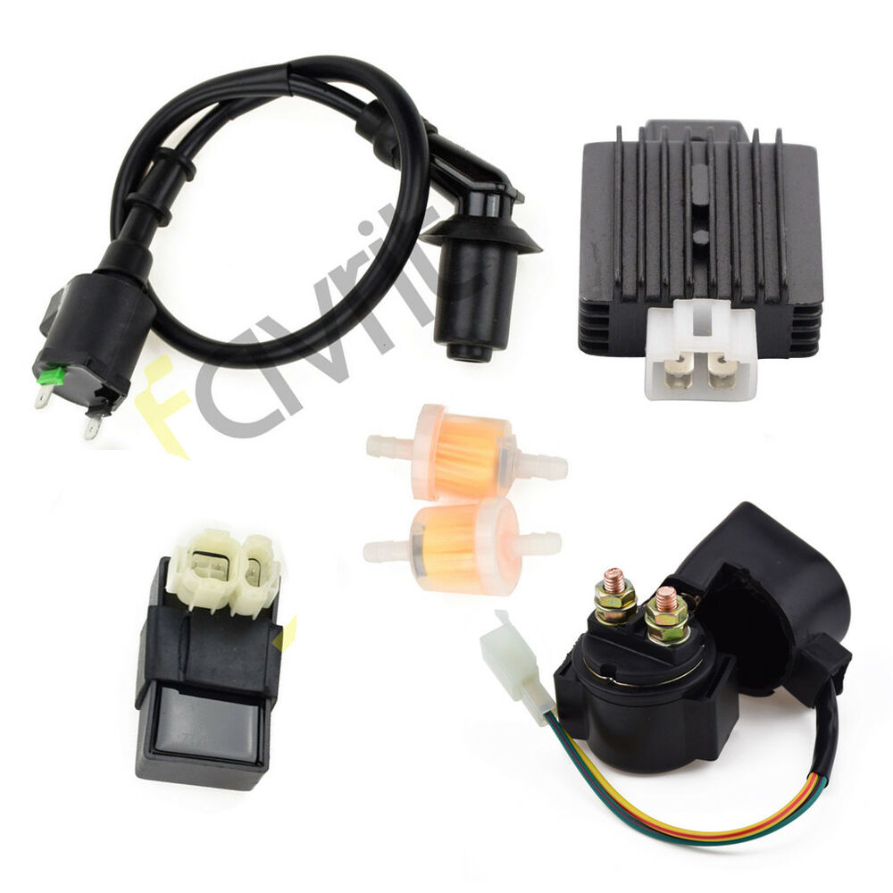 hight resolution of details about coil cdi solenoid relay voltage regulator for tomberlin crossfire 150 go kart