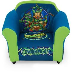 Ninja Turtles Chair 2 Person Folding Teenage Mutant Toddler Armchair Playroom Washable Slipcover