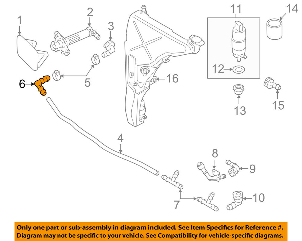 hight resolution of details about audi oem 05 15 a6 quattro washer headlight head light elbow 1j0955665a