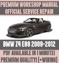 details about workshop manual service repair guide for bmw z4 e89 2009 2012 wiring diagram [ 1000 x 1000 Pixel ]