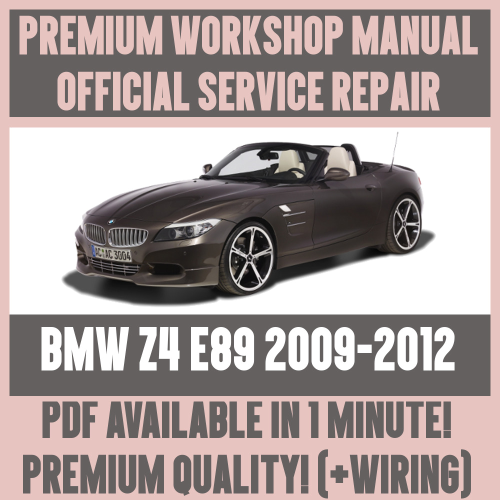 medium resolution of details about workshop manual service repair guide for bmw z4 e89 2009 2012 wiring diagram