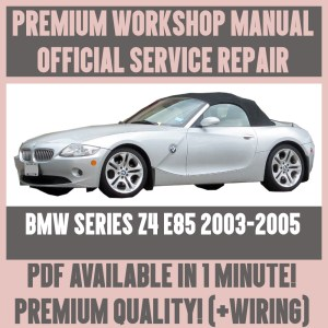 *WORKSHOP MANUAL SERVICE & REPAIR GUIDE for BMW Z4 E85
