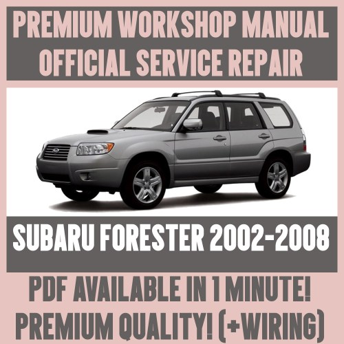 small resolution of details about workshop manual service repair guide for subaru forester 2002 2008 wiring
