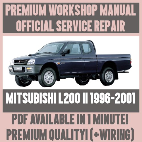 small resolution of  workshop manual service repair guide for mitsubishi l200 ii 1996 2001 ebay